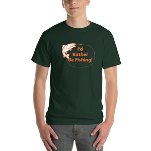 I'd Rather Be Fishing Mens Shirt Green
