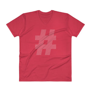 Men's My Hashtag Shirt V-Neck T-Shirt