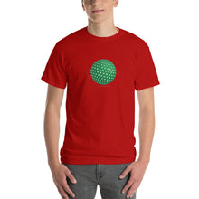 Spherical Tesseract Green Shape Mens Red Shirt