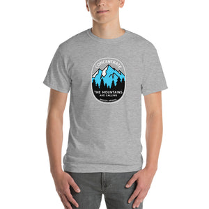 Concentrate, The Mountains Are Calling Mens Shirt Gray