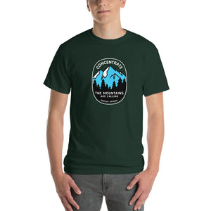 Concentrate, The Mountains Are Calling Mens Shirt Green