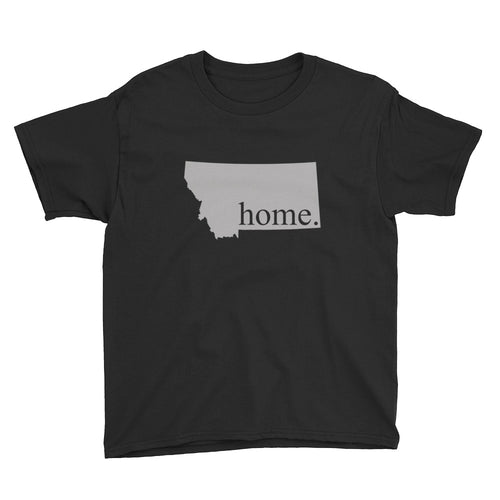 Montana State Home Youth Shirt Black