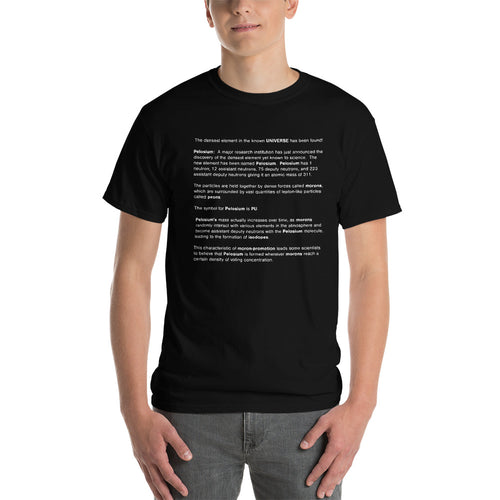 PELOSIUM Densest Element Ever Black Mens Shirt