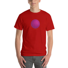 Spherical Tesseract Pink Shape Mens Red Shirt