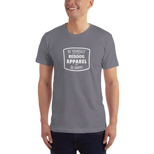 Reddog Apparel Be Yourself Be Happy Hourglass Logo Mens T-Shirt