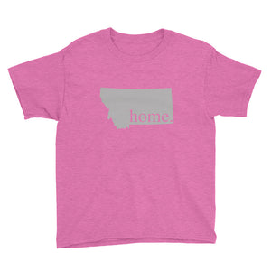 Montana State Home Youth Shirt Pink