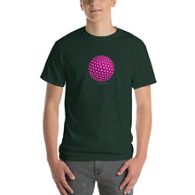 Spherical Tesseract Pink Shape Mens Green Shirt