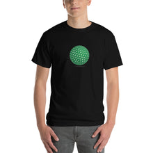 Spherical Tesseract Green Shape Mens Black Shirt