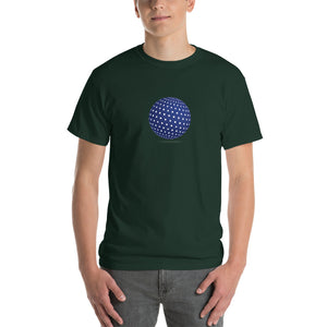 Spherical Tesseract Blue Shape Mens Green Shirt