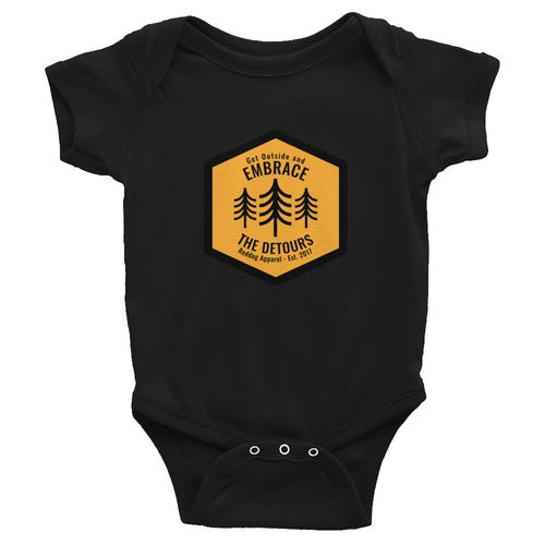 Get Outside and Embrace the Detours Sign Infant Bodysuit