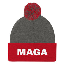 MAGA Make America Great Again Red Gray Beanie