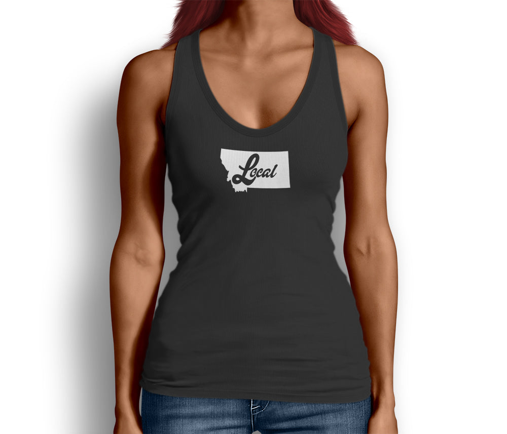 Montana State Local Womens Tank Top Black