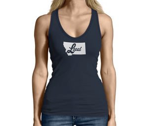 Montana State Local Womens Tank Top Blue