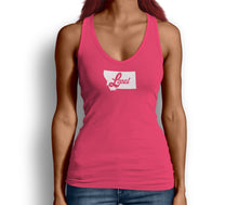 Montana State Local Womens Tank Top Pink