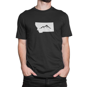 Montana State Mountain Shirt Black