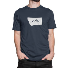 Montana State Mountain Shirt Blue