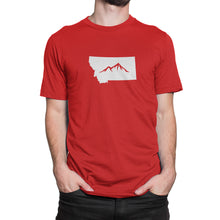 Montana State Mountain Shirt Red