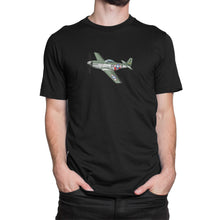 America P51 Mustang Airplane Shirt Black