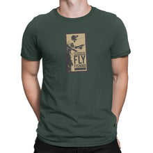 Rather Be Fly Fishing Mens Green Tshirt