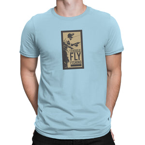 Rather Be Fly Fishing Mens Lt Blue Tshirt