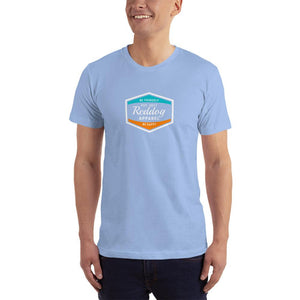 Reddog Apparel Be Yourself Be Happy Hexagon Logo Mens T-Shirt Light Blue
