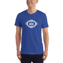 Reddog Apparel Be Yourself Be Happy Sawblade Logo Mens Shirt Blue