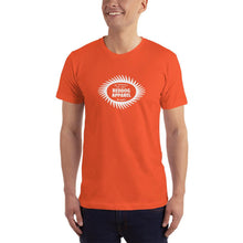 Reddog Apparel Be Yourself Be Happy Sawblade Logo Mens Shirt Orange