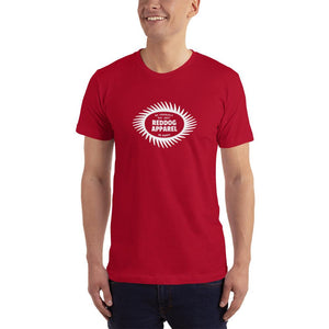 Reddog Apparel Be Yourself Be Happy Sawblade Logo Mens Shirt Red