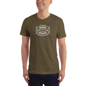 Reddog Apparel Get Outside Embrace the Detours Logo Mens Shirt Green