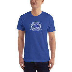 Reddog Apparel Get Outside Embrace the Detours Diamond Lines Logo Mens Shirt Blue