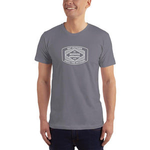 Reddog Apparel Get Outside Embrace the Detours Diamond Lines Logo Mens Shirt Gray