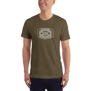 Reddog Apparel Get Outside Embrace the Detours Diamond Lines Logo Mens Shirt Green