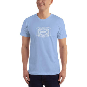Reddog Apparel Get Outside Embrace the Detours Diamond Lines Logo Mens Shirt Light Blue