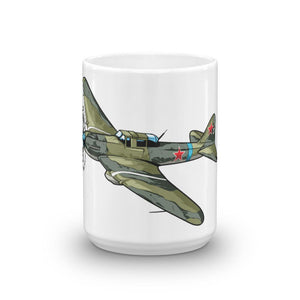 Russian Schturmovik Airplane Coffee Mug Large