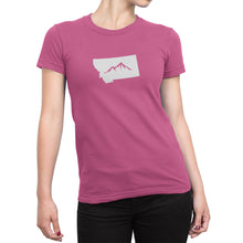 Womens Montana State Mountain Shirt Pink