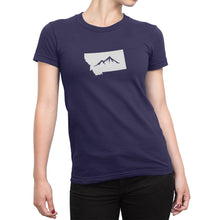 Womens Montana State Mountain Shirt Dark Purple