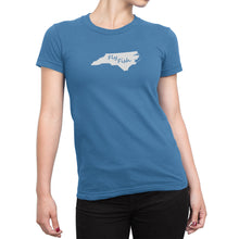 Womens North Carolina Fly Fish Shirt Blue