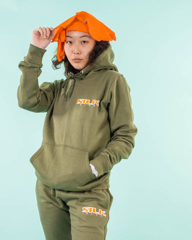 Sweatsuit (Olive Green/Orange/White)
