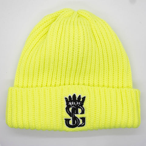 Beanie (Lime Green/Black/White)