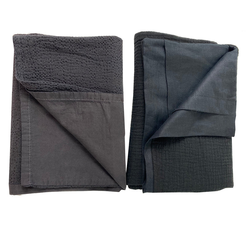 Sample Set #5  2 Textured Shams- Standard -Charcoal