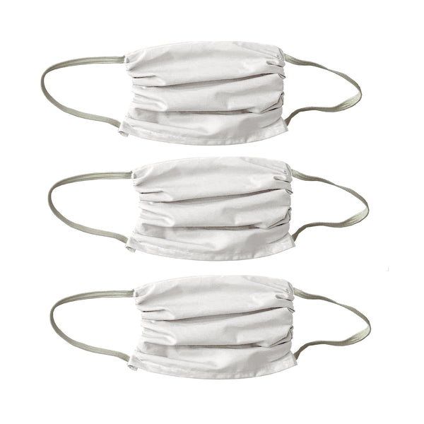 "Small Size -All White ""Color me""  Masks -3 Pack White"