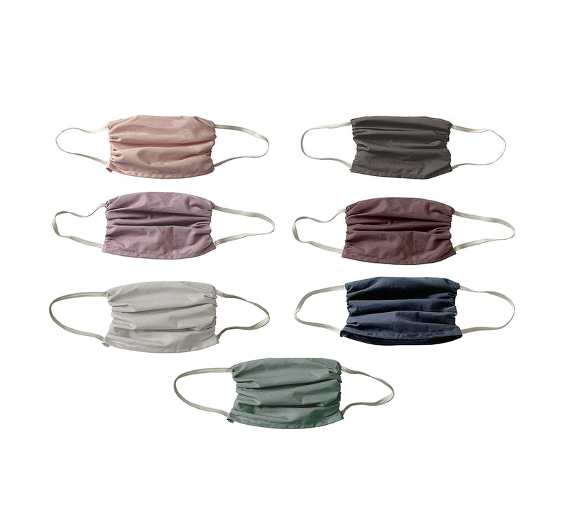 NEW! Trio  3 layer Mask Set-Assorted Colors 3 Ply Mask Set- 7 Pack Face Masks