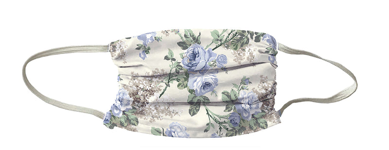 NEW! TRIO Auberge Bouquet Print Mask-Creme