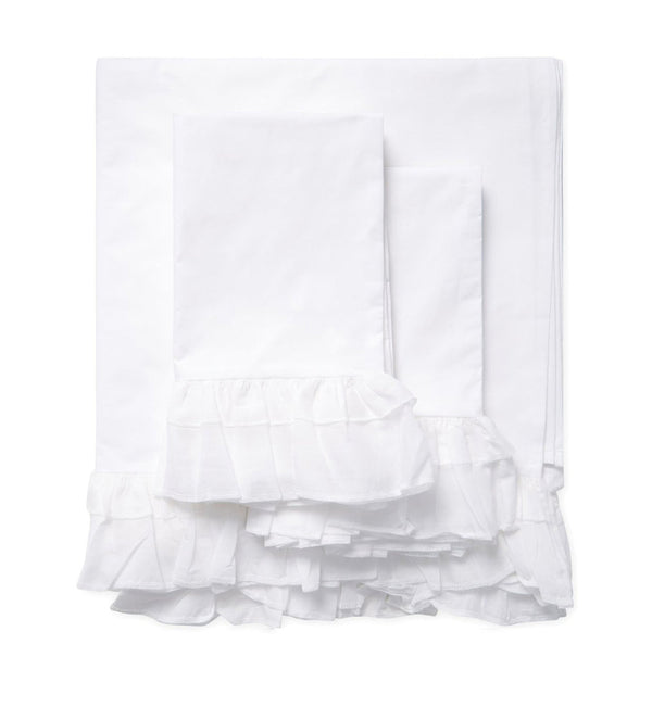 Bella Ruffle Sheet Set-Queen White