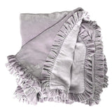 Silk Velvet Ruffle Throw - Crystal Lilac