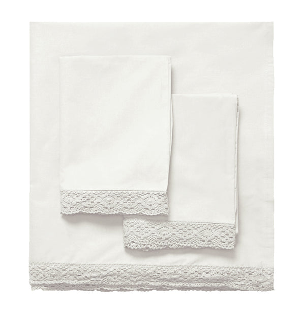 Chelsea Crochet Edge Sheet Set