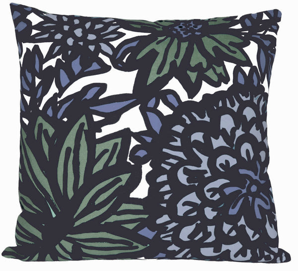 FLORA Pillow by Andrea Bernstein - Chambray