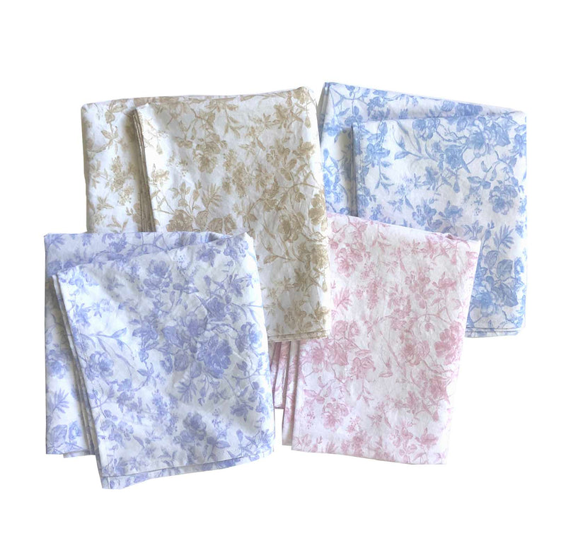 French Toile Print Bandana-Soft Lilac