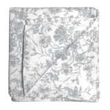 French Toile Print Bandana-Soft Grey