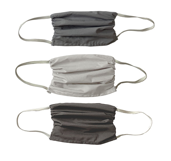 NEW! Trio  3 layer Mask Set-Just Grey colors 3 Ply Mask Set- 3 Pack-Grey Colors